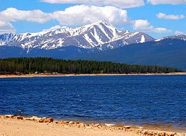 La plata mountains clipart jpg library stock Mount Elbert - Wikipedia jpg library stock