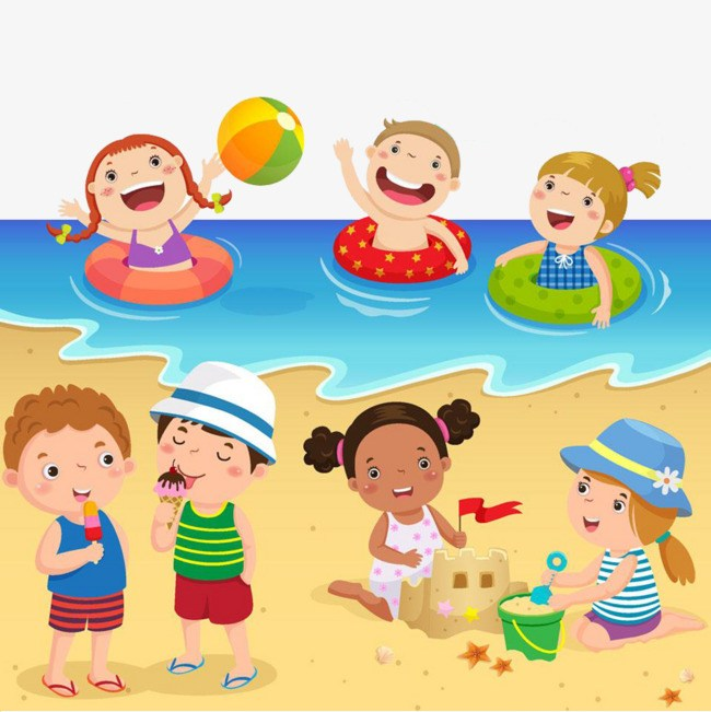 Kids at the beach clipart clipart royalty free download La playa clipart 6 » Clipart Portal clipart royalty free download