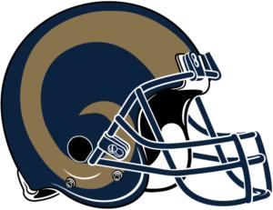 La rams helmet clipart clipart black and white stock Los Angeles Rams Helmet History | Custom Refurbished Rams Helmet | clipart black and white stock