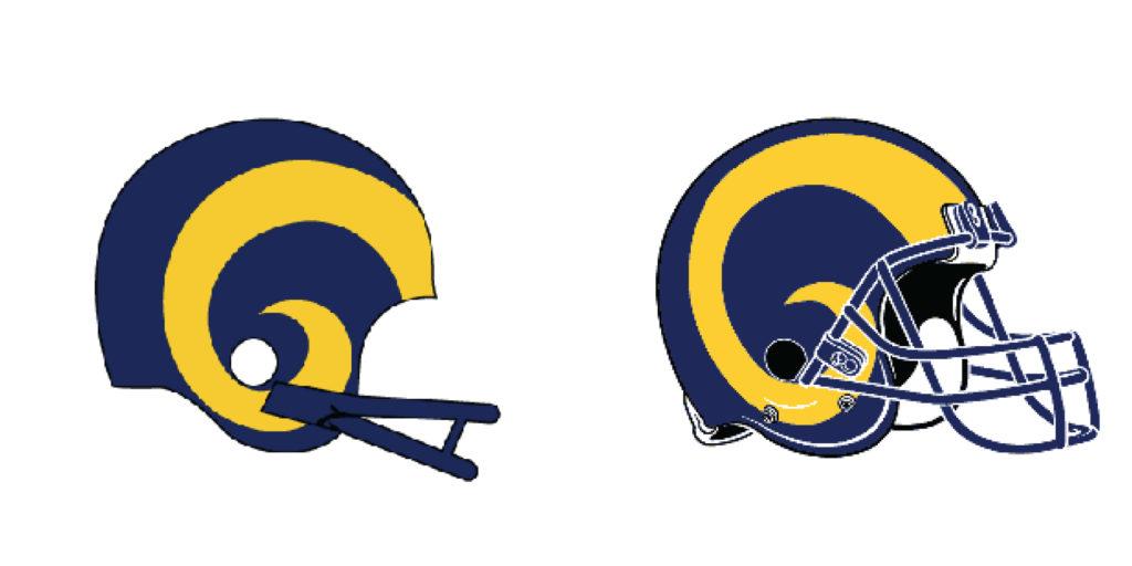 La rams helmet clipart svg stock Super Bowl Rams: Evolution of the Brand - Gallardo Graphics svg stock
