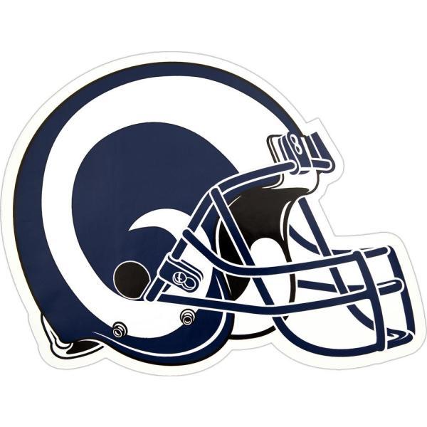 La rams helmet clipart banner freeuse library NFL Los Angeles Rams Outdoor Helmet Graphic- Large banner freeuse library
