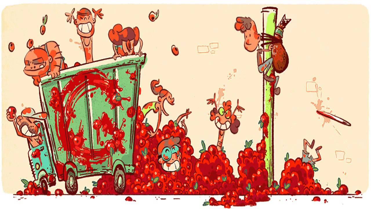 La tomatina clipart svg library La Tomatina Google Doodle svg library