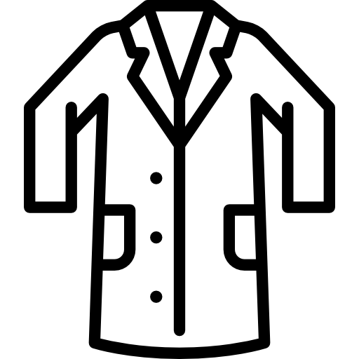 Lab apron clipart jpg stock Lab coat Icons | Free Download jpg stock
