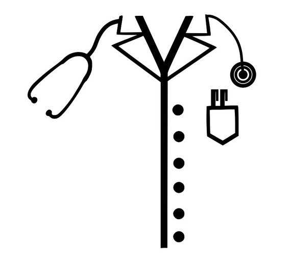 Lab apron clipart png black and white library Lab Coat Drawing | Free download best Lab Coat Drawing on ClipArtMag.com png black and white library