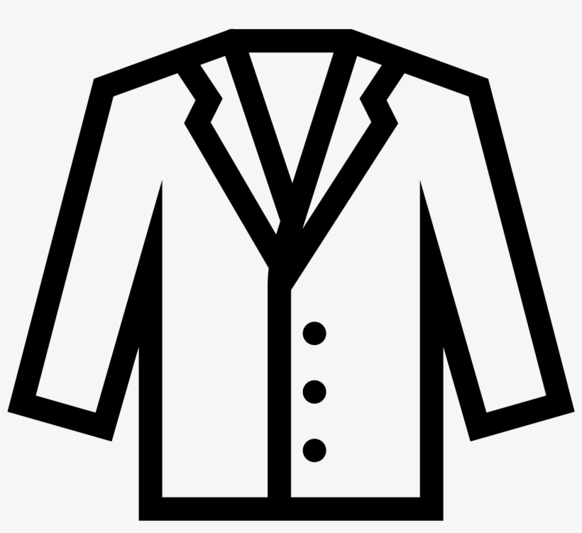 Lab apron clipart picture black and white stock Clipart Coat Formal Coat - Lab Coat Emoji - Free Transparent PNG ... picture black and white stock