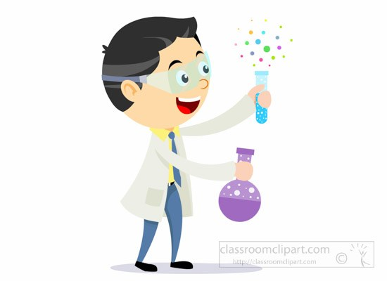 Lab experiment clipart picture black and white stock Scientist Holding Flask Test Tube For Lab Experiment » Clipart Portal picture black and white stock