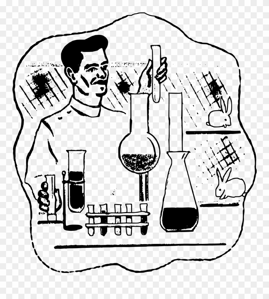 Lab experiment clipart clipart freeuse stock Clipart - Experiment In Lab Drawing - Png Download (#413735 ... clipart freeuse stock