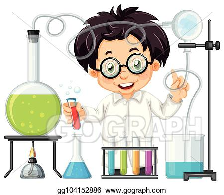Lab experiment clipart picture royalty free library Vector Illustration - A chemist experiment at lab. Stock Clip Art ... picture royalty free library
