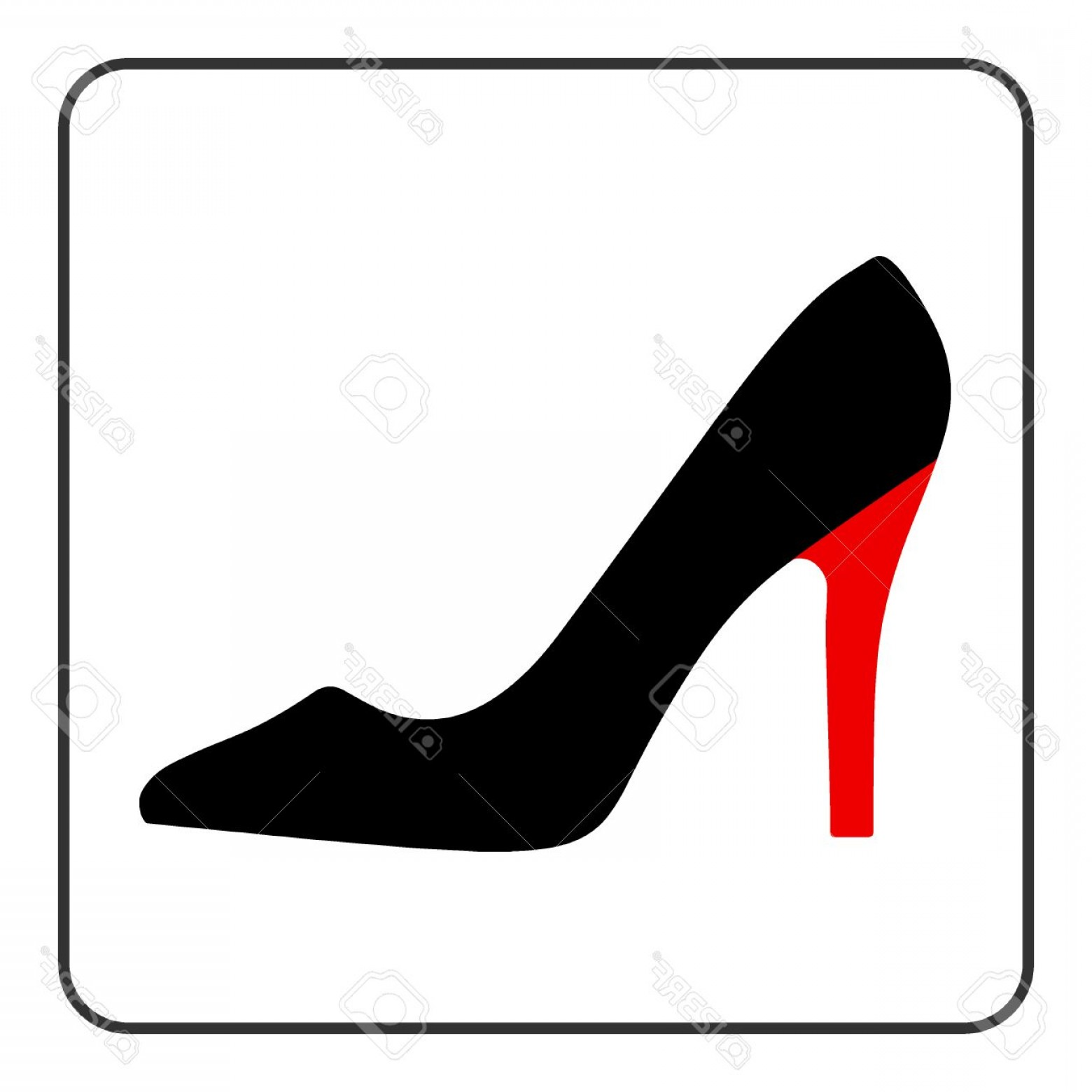 Lab shoes clipart png library stock Photostock Vector High Heel Shoes Icon Elegant Black And Red ... png library stock
