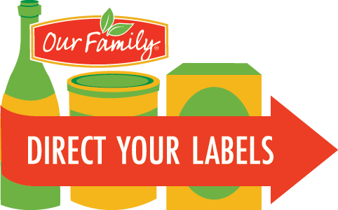 Labels for education clipart banner library stock Direct Your Labels - Our Family Foods banner library stock