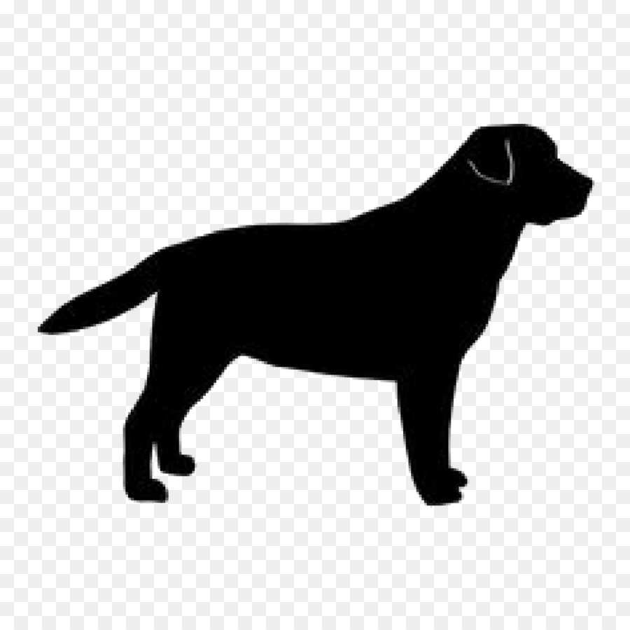 Labrador crab clipart black and white no background graphic free Labrador Retriever Puppy Dog breed Pet sitting Silhouette ... graphic free