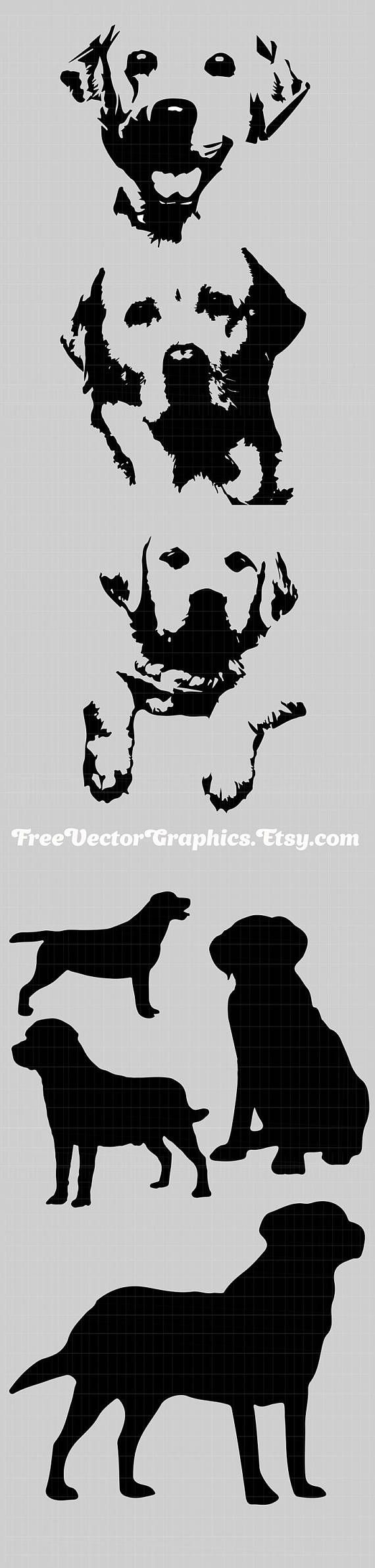 Labrador crab clipart black and white no background graphic library Labrador dog svg vector files clip art lab silhouette yellow ... graphic library