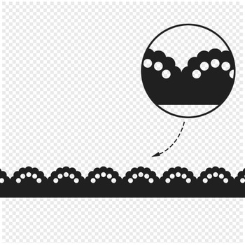 Lace border clipart vector black and white download Lace Border Clipart - 22 digital lace borders / 11x1 inches - A00122 vector black and white download