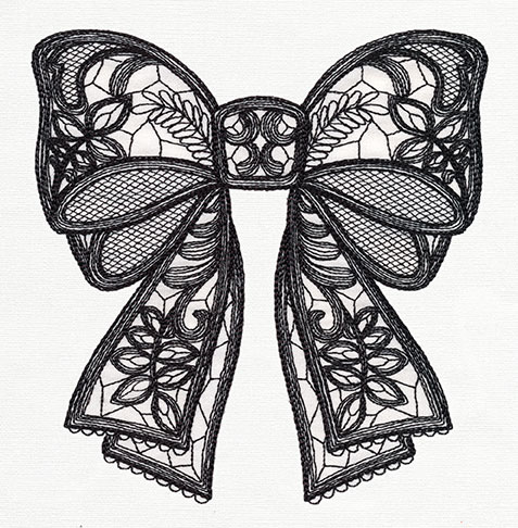 Lace bow clipart vector black and white stock Lace Bow Drawing at PaintingValley.com | Explore collection ... vector black and white stock