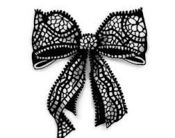 Lace bow clipart clip art freeuse library Christmas bow paintings search result at PaintingValley.com clip art freeuse library