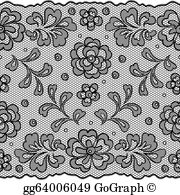 Lace fabric clipart image royalty free stock Lace Fabric Clip Art - Royalty Free - GoGraph image royalty free stock