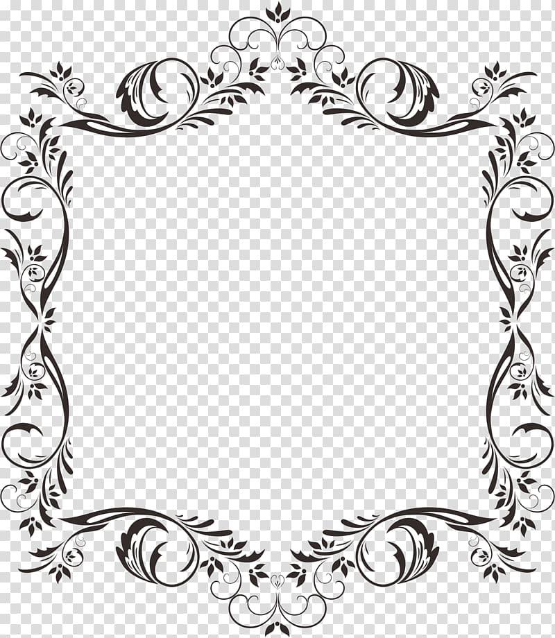Lace material clipart jpg transparent download Black flower frame illustration, Corner pattern lace ... jpg transparent download