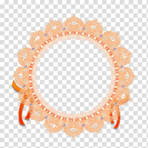 Lace ribbon clipart black and white stock Lace Ribbon frame, Orange lace transparent background PNG ... black and white stock