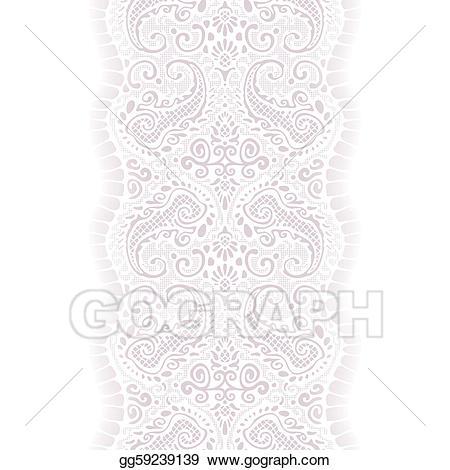 Lace ribbon clipart jpg transparent stock EPS Illustration - White lace ribbon seamless. Vector ... jpg transparent stock