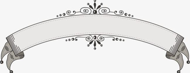 Lace ribbon clipart vector black and white download European Vintage Lace Ribbon Decorative Elements PNG ... vector black and white download