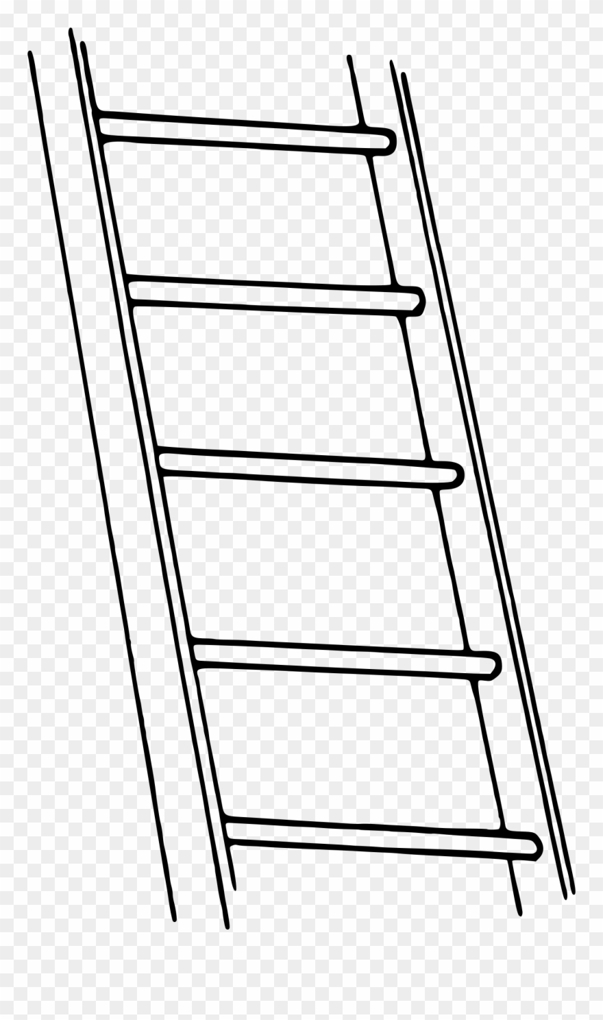 Ladder black and white clipart banner free library Ladder Clipart Black And White - Png Download (#277170 ... banner free library