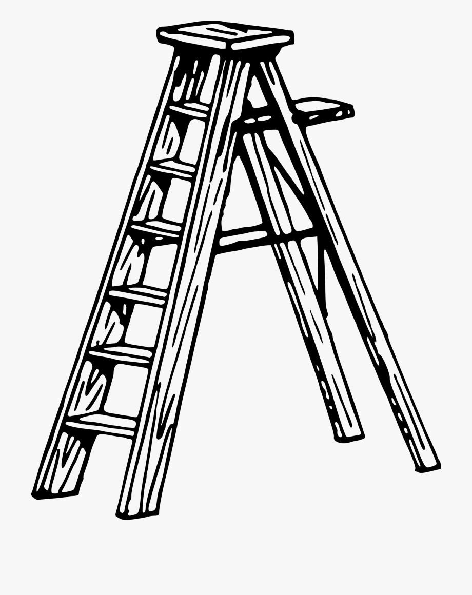 Ladder black and white clipart svg transparent stock Clip Art Ladders - Ladder Clipart Black And White #1886449 ... svg transparent stock