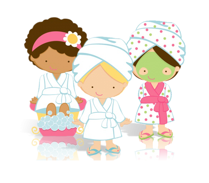 Ladies being pampered in a spa clipart jpg black and white library Glitz and Glam – Spa pamper party girls party Huntsville ... jpg black and white library
