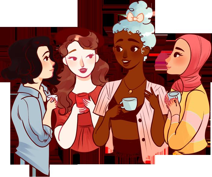 Ladies book club clipart vector download Her Story: Ladies In Literature with Maurene Goo vector download