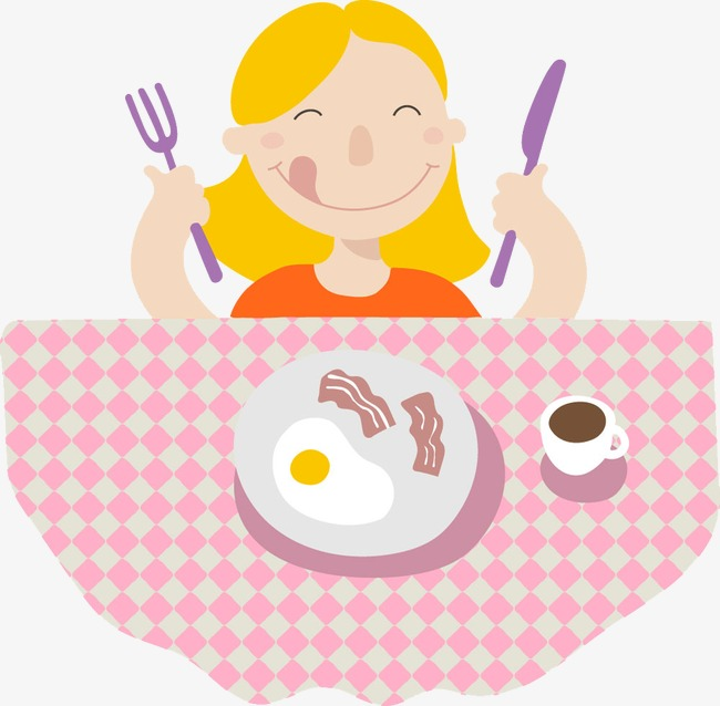 Ladies breakfast clipart graphic black and white library Girl Eating Breakfast, Breakfast Clipart #200293 - PNG ... graphic black and white library