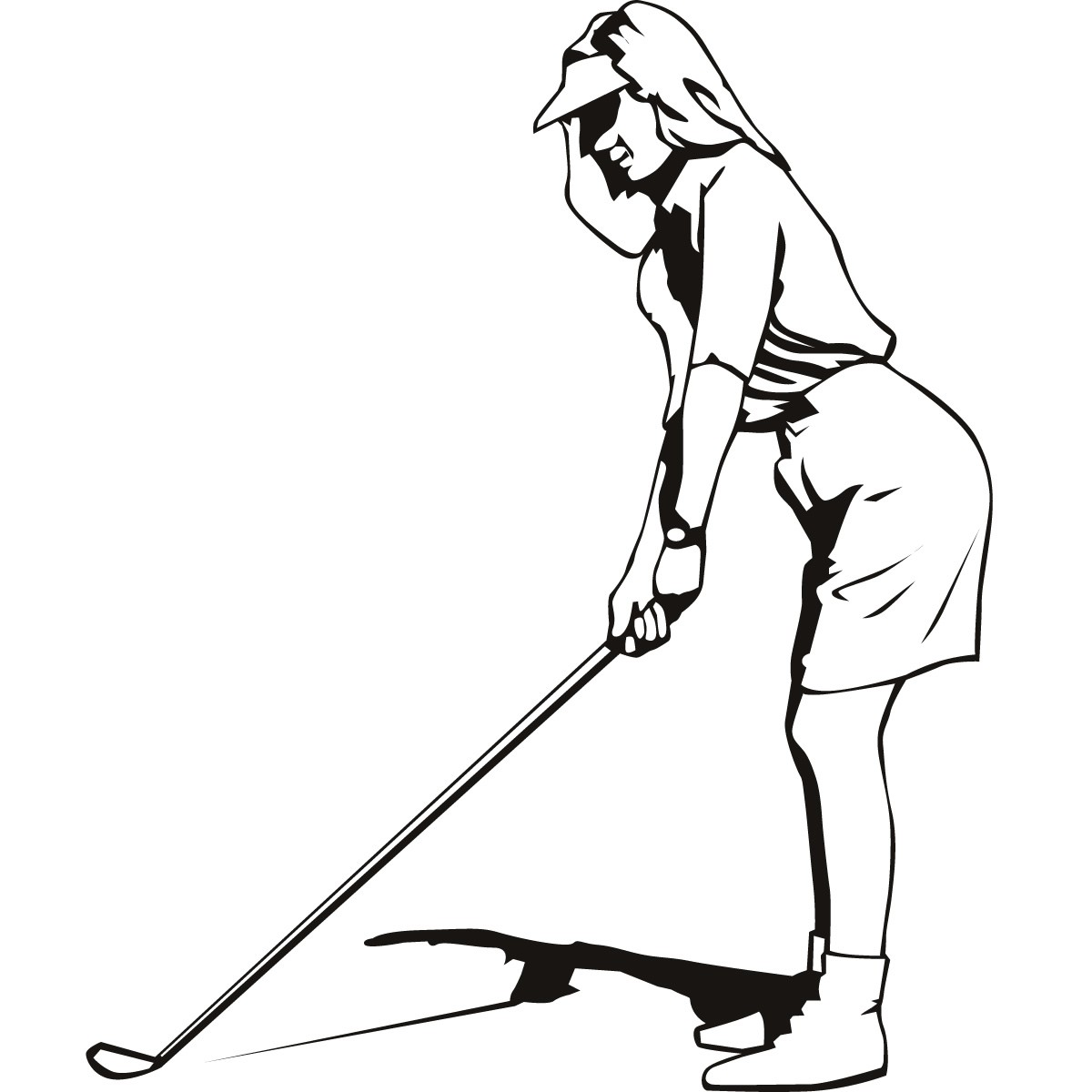 Ladies golf clipart images clipart black and white download Free Girls Golf Cliparts, Download Free Clip Art, Free Clip ... clipart black and white download