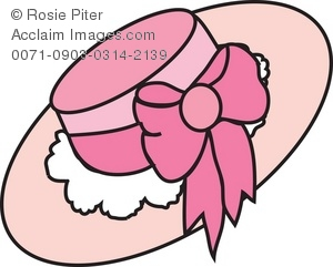 Ladies hats clipart clipart freeuse library Clipart Illustration of a Pink Ladies Hat clipart freeuse library