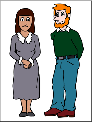 Ladies man clipart banner download Clip Art: People: Woman and Man Color I abcteach.com | abcteach banner download