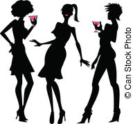 Ladies night clipart png library library Ladies night out Vector Clip Art Illustrations. 98 Ladies ... png library library