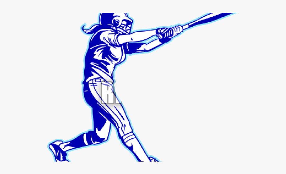 Ladies softball clipart clip black and white stock Clipart Wallpaper Blink - Girl Swinging A Softball Bat ... clip black and white stock