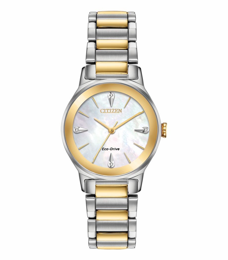 Ladies watch clipart svg transparent library Citzien Ladies Two Tone Axiom Diamond Watch - Citizen Em0732 ... svg transparent library