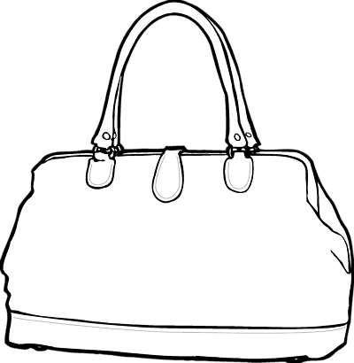 Womans tote clipart black and white svg black and white library Free Woman Purse Cliparts, Download Free Clip Art, Free Clip ... svg black and white library