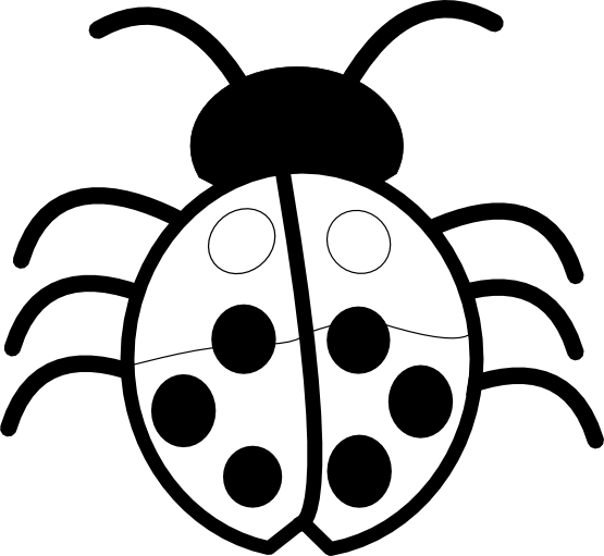 Lady bug clipart black and white siloueete jpg freeuse Free Ladybug Silhouette, Download Free Clip Art, Free Clip ... jpg freeuse