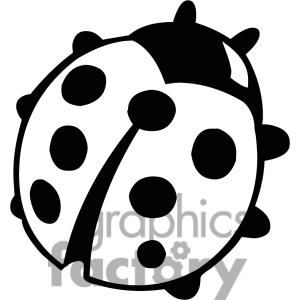 Lady bug clipart black and white siloueete picture library stock a nice iconic graphic | Ladybugs | Ladybug coloring page ... picture library stock