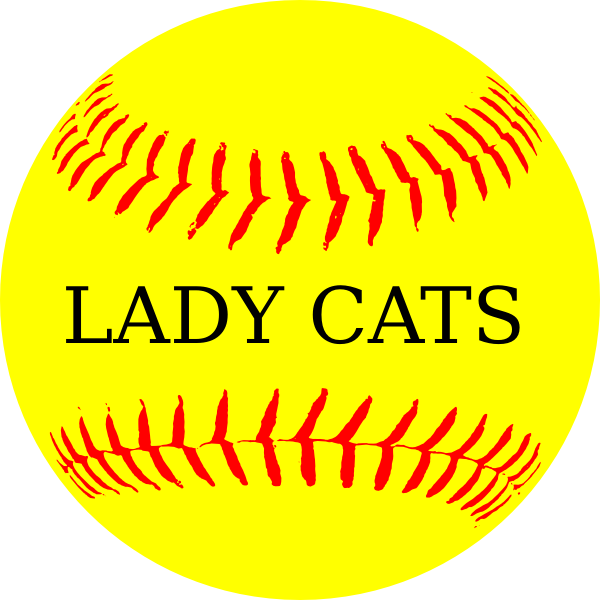Yellow cat clipart freeuse library Lady Cats Yellow Softball Clip Art at Clker.com - vector clip art ... freeuse library