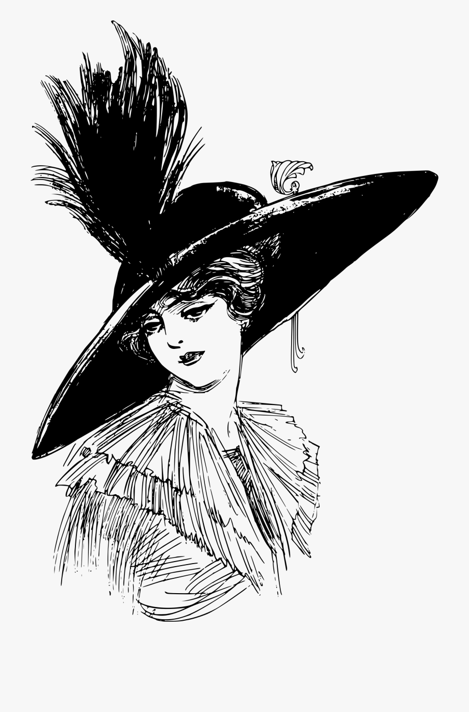 Ladies hats clipart clip art transparent download Lady Hat Cliparts - Woman In Hat Png #348054 - Free Cliparts ... clip art transparent download