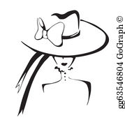 Woman in hat clipart image free Lady Hat Clip Art - Royalty Free - GoGraph image free