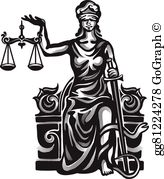 Lady justice clipart graphic free library Lady Justice Clip Art - Royalty Free - GoGraph graphic free library