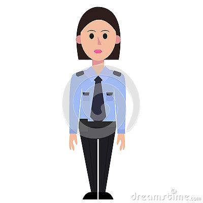 Lady security guard clipart graphic library library Woman Security Guard Stock Vector - Image: 62836516 graphic library library