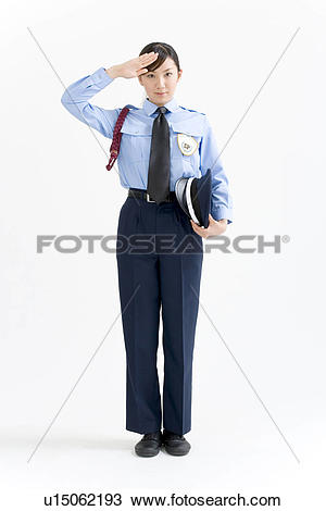 Lady security guard clipart vector library Stock Photo of A female security guard saluting u15062193 - Search ... vector library