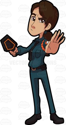 Lady security guard clipart picture transparent download stop Cartoon Clipart picture transparent download