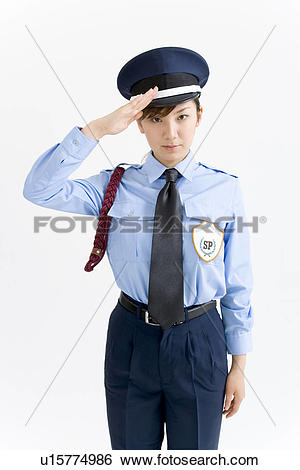 Lady security guard clipart clip Stock Images of A female security guard saluting u15774986 ... clip