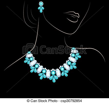 Lady wearing jewelry clipart picture freeuse Woman and jewelry picture freeuse