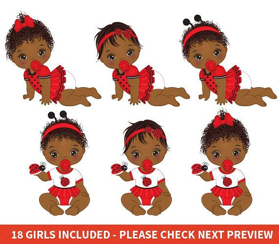 Ladybug baby clipart banner library download Ladybug Baby Girl Clipart - Vector Baby Clipart, African ... banner library download