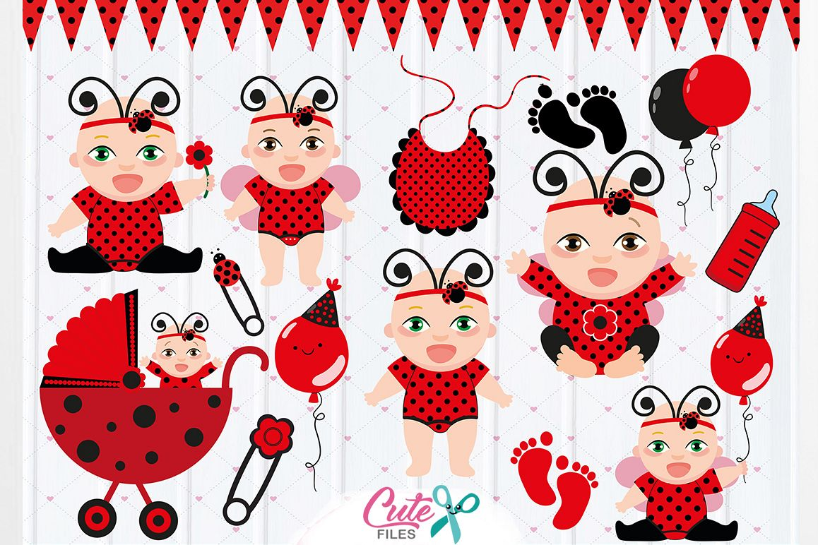 Ladybug baby clipart vector free Baby Ladybug Clipart, Ladybug party, Baby Girls Clipart Set, ladybug vector  graphics, digital clipart, ladybug baby shower vector free