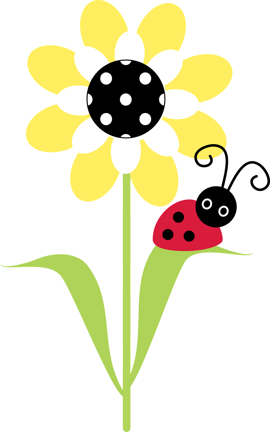 Ladybug flower clipart banner freeuse stock http://daniellemoraesfalcao.minus.com/i/brxMqfFAxCpJa | CLIPART ... banner freeuse stock
